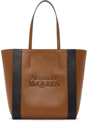 Alexander McQueen Brown and Black Signature Shopper Tote