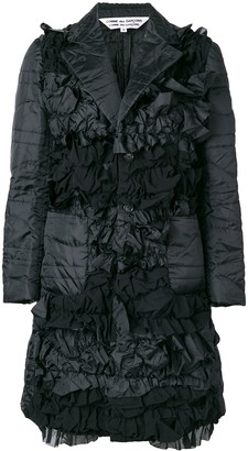Comme des Garcons longline organza padded jacket