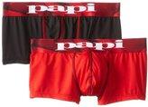 Papi Men's 2-Pack Microfusion Performance Brazilian Trunk