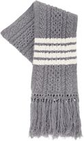 Thom Browne Wool Cable Knit Scarf W/ Stripes