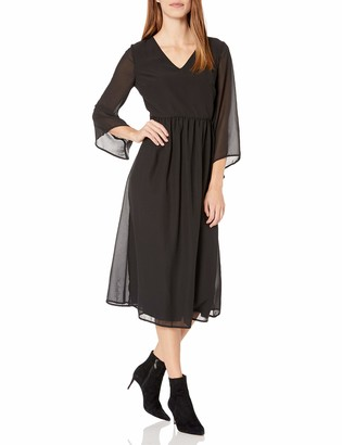 James & Erin Women's Bell Sleeve Georgette Maxi