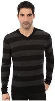 7 For All Mankind Long Sleeve V-Neck Stripe Sweater