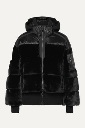 Bogner Duna Oversized Quilted Faux Fur And Velvet Down Ski Jacket - Black