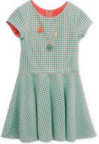 Rare Editions Laser-Cut Skater Dress & Necklace Set, Big Girls (7-16)