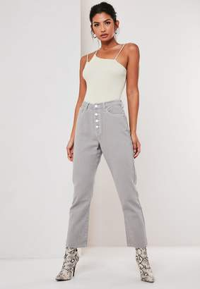 Missguided Grey Co Ord Wrath Highwaisted Straight Leg Jeans