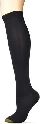 Gold Toe Women's Little Black Sock Sparkle Knee Highs 2 Pairs Shoe Size: 6-9