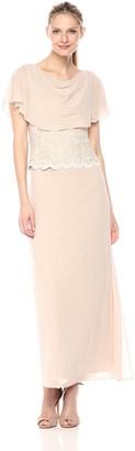 Jessica Howard JessicaHoward Women's Drape Neck Capelet Gown