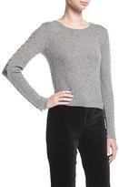 Alice + Olivia Sparrow Crewneck Grommet-Sleeve Pullover Sweater