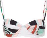 Emilio Pucci Printed Cotton Sweetheart Bikini Bra