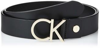 Calvin Klein Women's Adj.Logo Belt 3.5cm