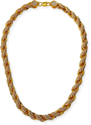 Fallon Pave Rope Chain Necklace