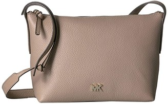MICHAEL Michael Kors Medium Top Zip Crossbody (Truffle) Handbags