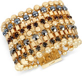 Kenneth Cole New York Gold-Tone Imitation Pearl and Stone Multi-Row Bracelet