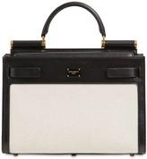Dolce & Gabbana SICILY 62 CANVAS & LEATHER HANDLE BAG