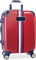 """Tommy Hilfiger Basketweave Hardside 21"""" Spinner Suitcase"""