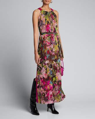Fuzzi Floral Halter Maxi Dress