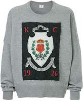 Kent & Curwen crest applique patch sweatshirt