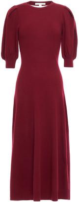 Jonathan Simkhai Cutout Draped Cashmere Midi Dress