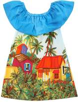 Stella Jean House Printed Cotton Poplin Dress