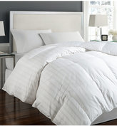 Blue Ridge Tuxedo Damask Stripe Oversize Twin White Down Comforter Bedding