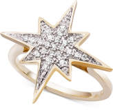 Wrapped Diamond Cluster Star Ring (1/6 ct. t.w.) in 10k Gold, Created for Macy's