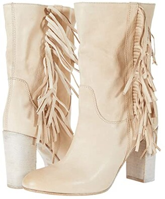 Free People Wild Rose Slouch Boot (Ivory) Women's Shoes