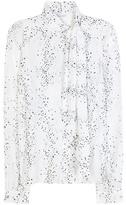 Tomas Maier Printed Silk Blouse