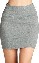 Fashionazzle Women's Basic Cotton Stretchy Mini Skirt