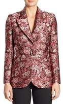 ADAM by Adam Lippes Belted Floral Tuxedo Blazer