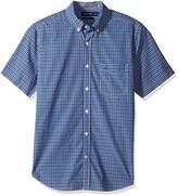 Nautica Men's Short Sleeve Classic Fit Plaid Button Down Shirt