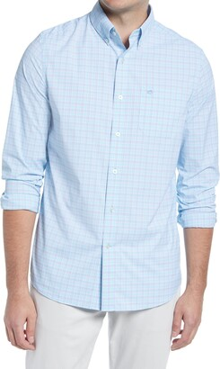 Southern Tide Basin Mini Check Button-Down Performance Shirt