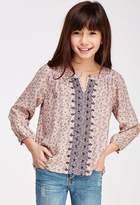 Forever 21 Embroidered Floral Peasant Top (Kids)