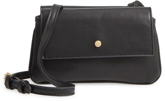 Mali & Lili Double Flap Vegan Leather Crossbody Bag