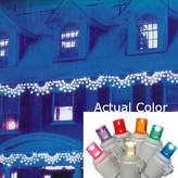Asstd National Brand Set of 150 Multi-Color LED Wide Angle Swag Christmas Lights with White Wire