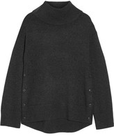 Rag & Bone Phyllis Wool And Cashmere-blend Turtleneck Sweater - Charcoal