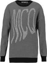 McQ by Alexander McQueen Striped cotton-blend jersey sweater