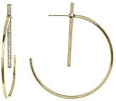 Jessica Simpson Crystal Detail Bar Embellished 55mm Hoop Earrings