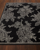 Mackenzie Childs MacKenzie-Childs Wild Rose Rug, Black, 8' x 10'