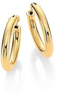 Roberto Coin Women's 18K Yellow Gold Oval Hoop Earrings/1.05""