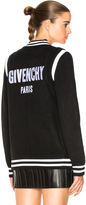 Givenchy Logo Back Knit Bomber
