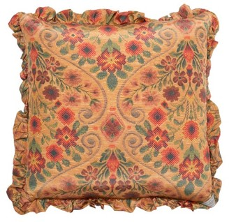 Preen by Thornton Bregazzi Floral-print Satin Cushion - Brown Print