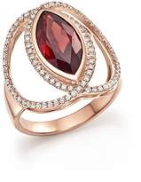 Bloomingdale's Rhodolite Garnet & Diamond Statement Ring in 14K Rose Gold - 100% Exclusive