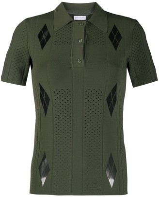 Maison Ullens Perforated Knitted Polo Shirt