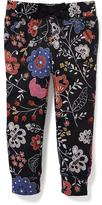 Old Navy Floral Fleece Joggers for Toddler