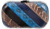 Loeffler Randall Multicolor Snakeskin Minaudière