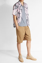 Majestic Linen T-Shirt with Silk