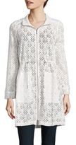 Nic+Zoe Poolside Lace Trench Jacket