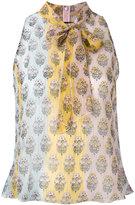Giamba floral print top - women - Silk/Polyester - 40
