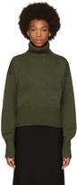 Chloé Green Cashmere Pocket Turtleneck