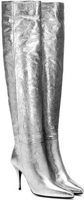 Zimmermann Metallic leather knee-high boots